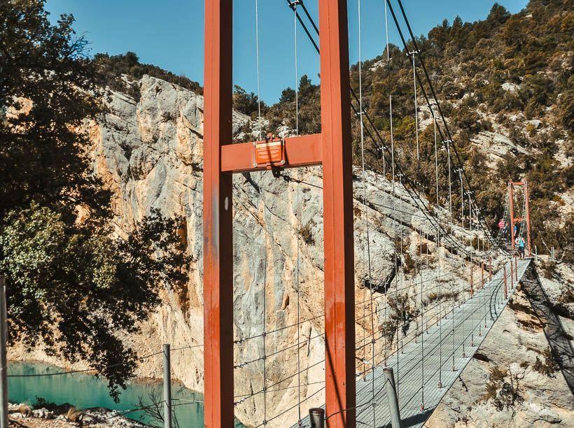 puente colgante congost mont rebei