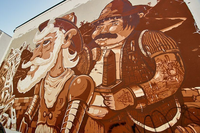 arte callejero don quijote oporto