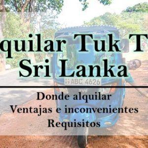 Como alquilar un tuk tuk en Sri Lanka