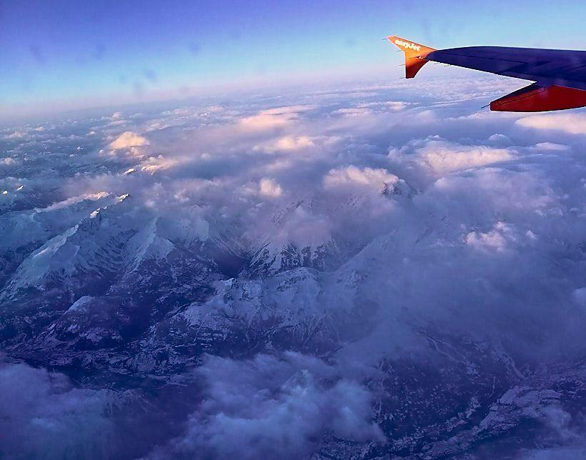 montblanc vistas desde avion