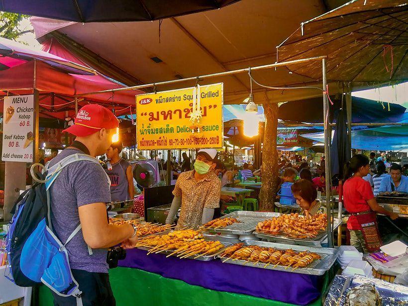 Puestos de comida callejera bangkok