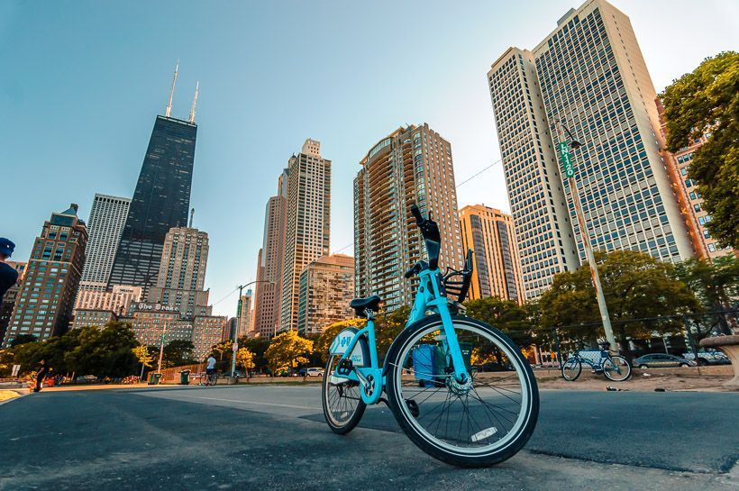 alquilar bicicleta chicago