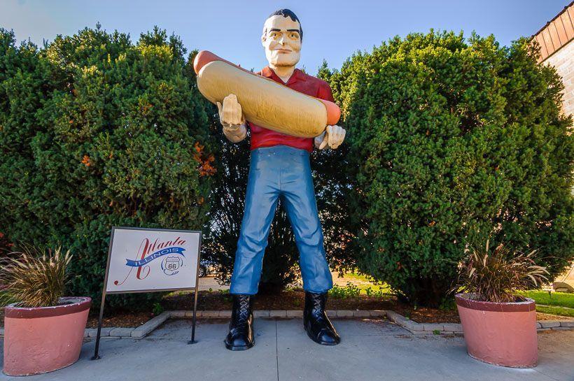 estatua hot dog ruta 66
