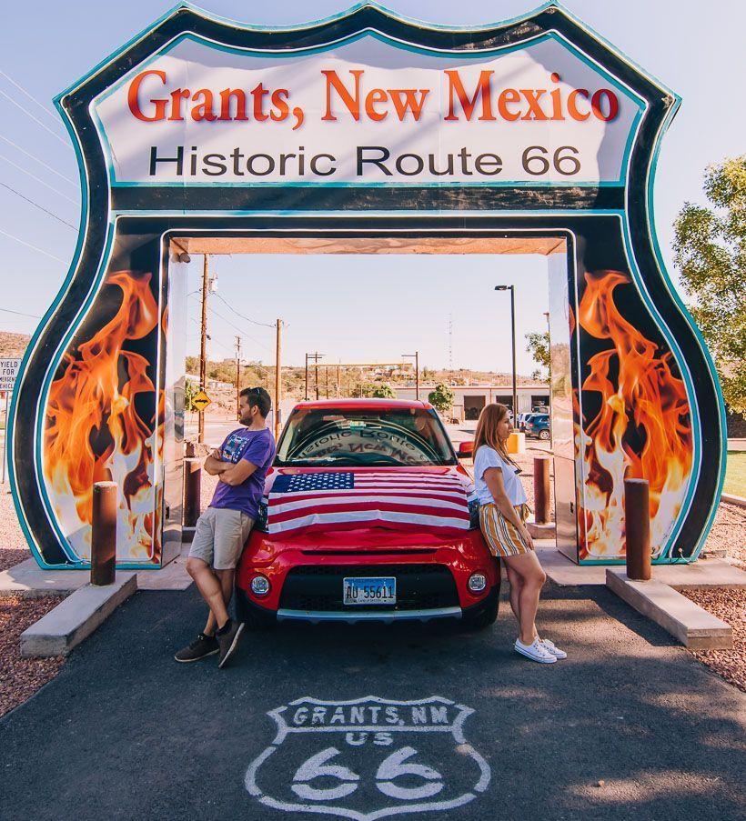 Route 66 Shield drive thru grants