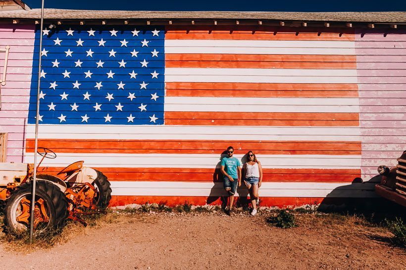 bandera EEUU Seligman