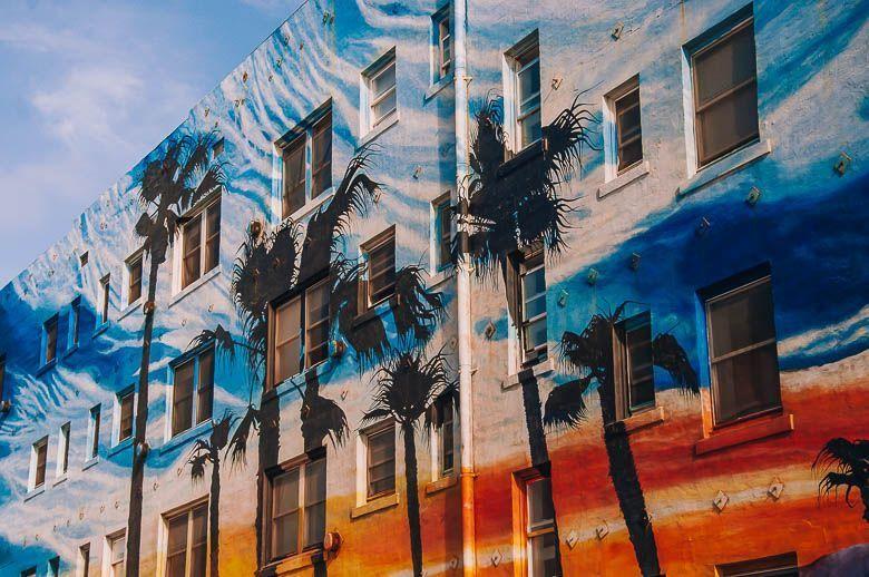mural palmeras venice