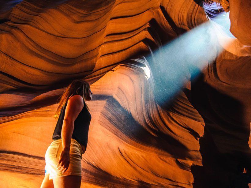 rayo de luz antelope canyon