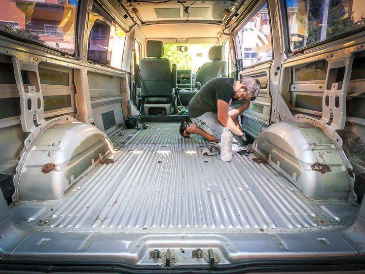 desmontar furgoneta