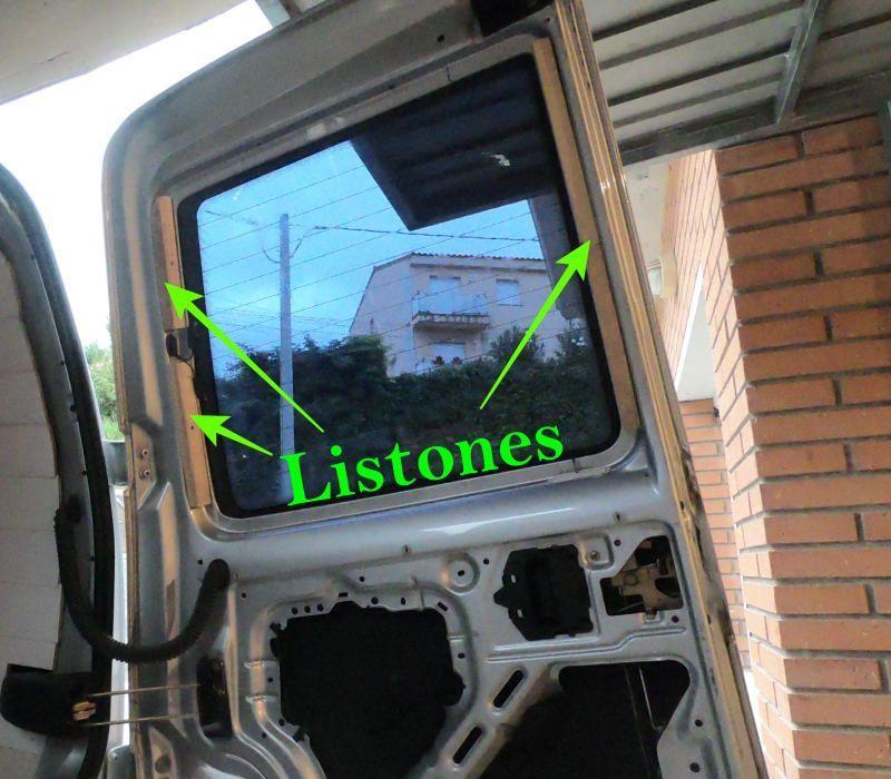 aislar ventana trasera furgoneta