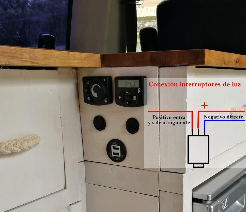 conectar interruptores de luz