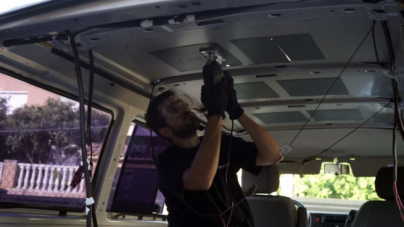 cortar techo instalar furgoneta