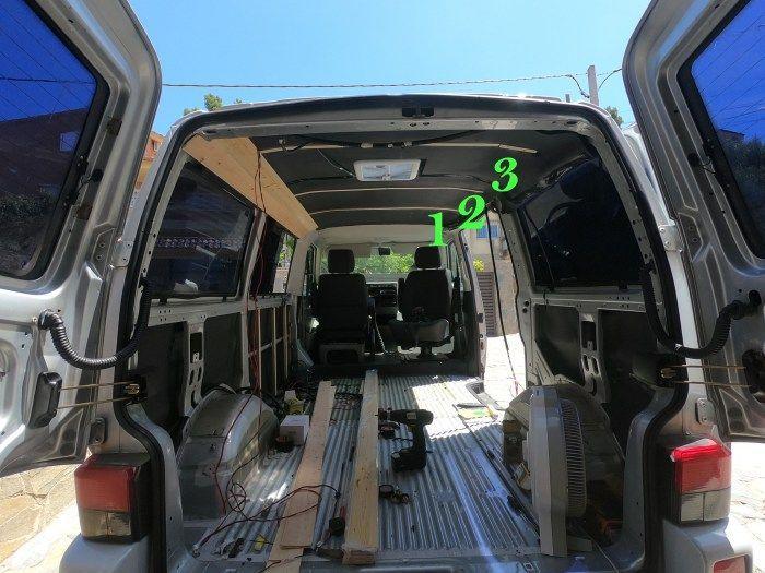 listones madera furgoneta