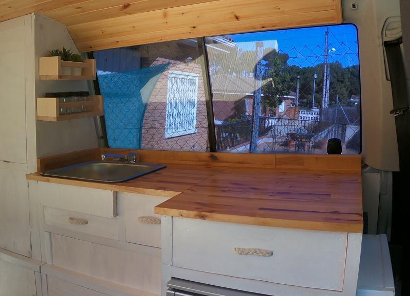 mueble fregadero furgoneta camper