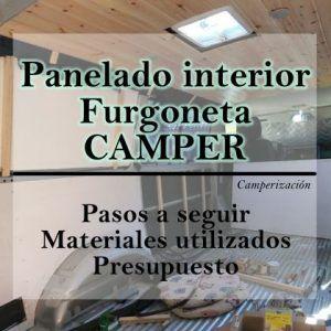 Panelar furgoneta camper, revestimiento interior