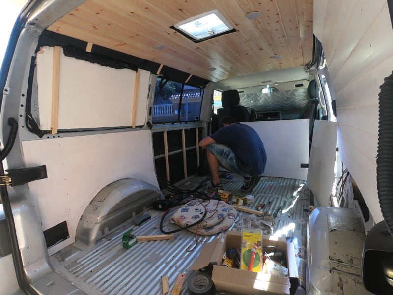 panelar furgoneta camper
