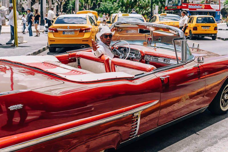 alquilar coche clasico cuba