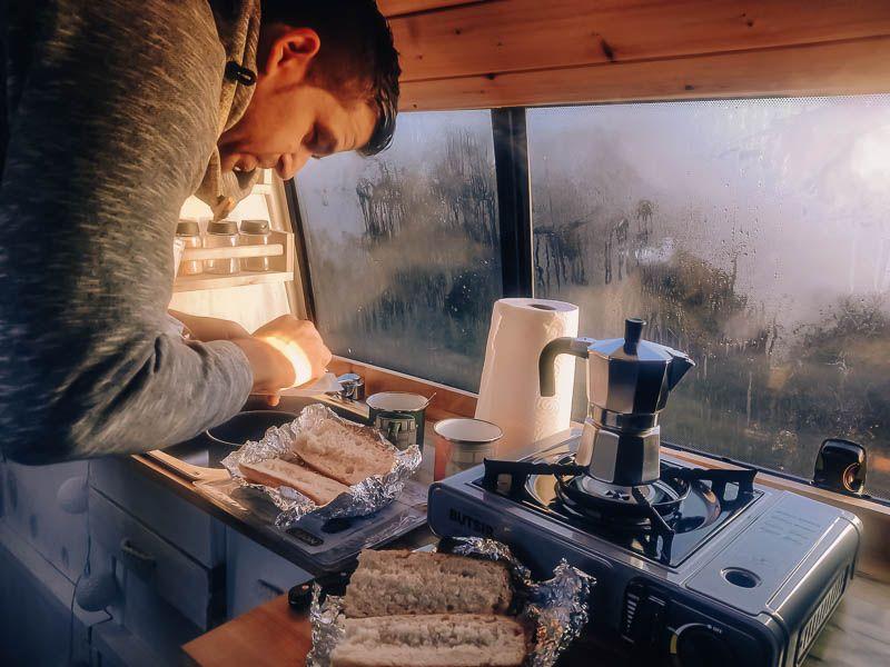 horno para camper