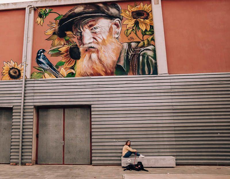 hombre pajaro penelles arte rural