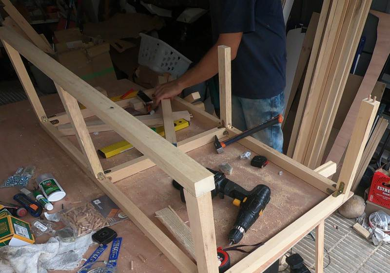 estructura mueble cama furgoneta