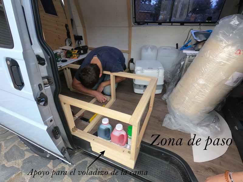 mueble para poti furgoneta